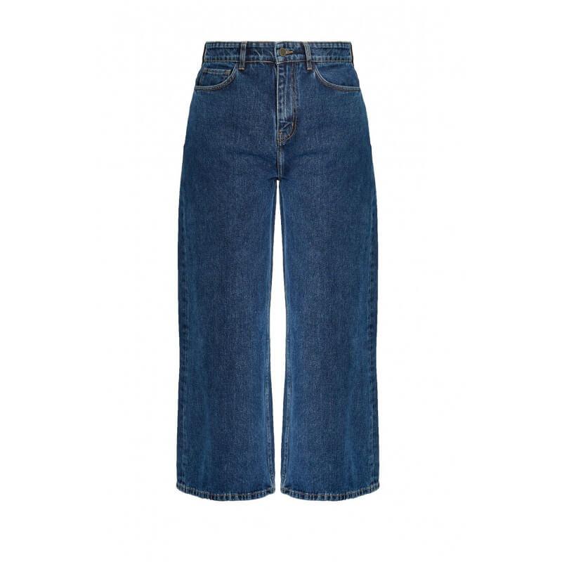 Pantalon denim large en...