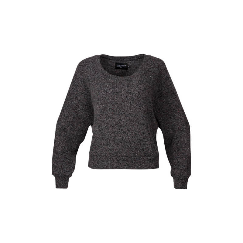 Sweat crop Rita Noir/Gris...