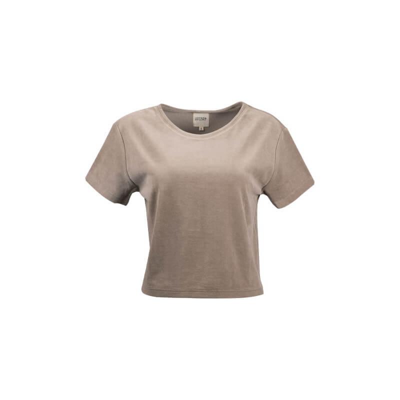 """""""Sand"""" beige velvet t-shirt"""