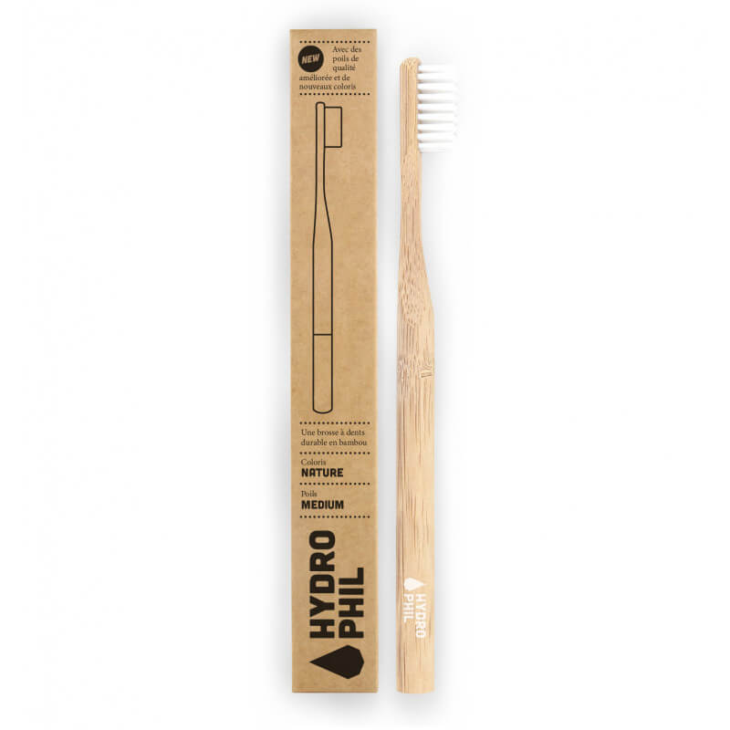 Bamboo toothbrush - Natural...