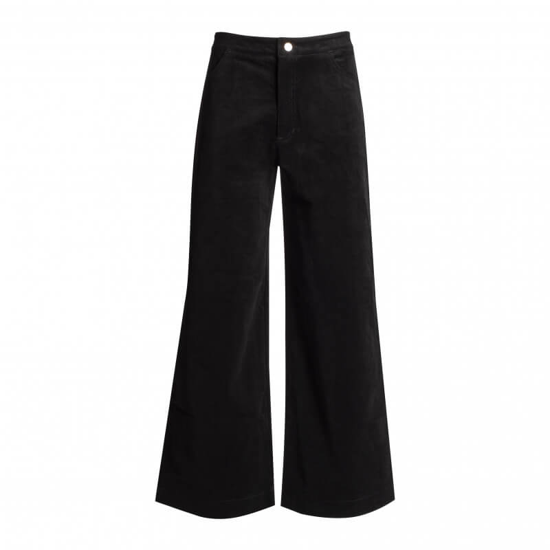 Pantalon noir large en...