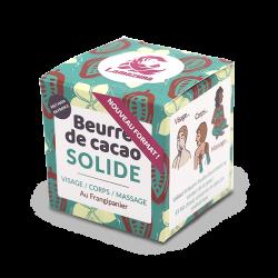 Packaging beurre de cacao solide au frangipanier soin corps visage et mains
