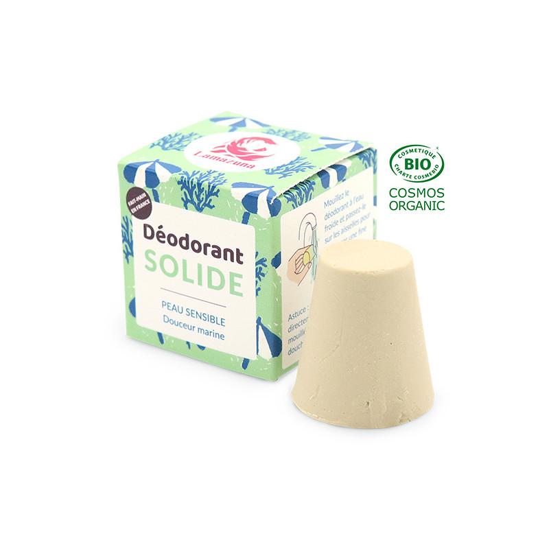 Déodorant solide pour peau sensible certifié COSMOS Organic