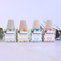 Gamme complète de déodorants solides et naturels certifiés bio