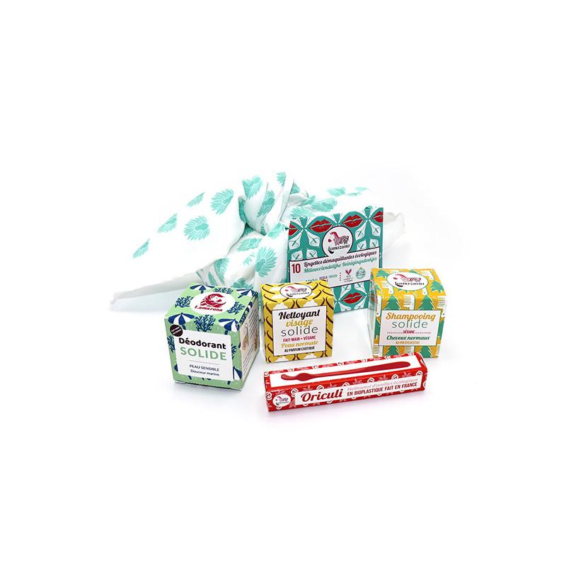 Balluchon zéro déchet, furoshiki, emballage écologique