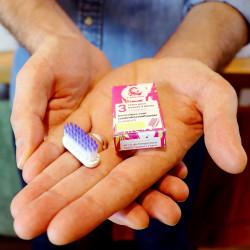 Tête de brosse à dents extra souple et packaging