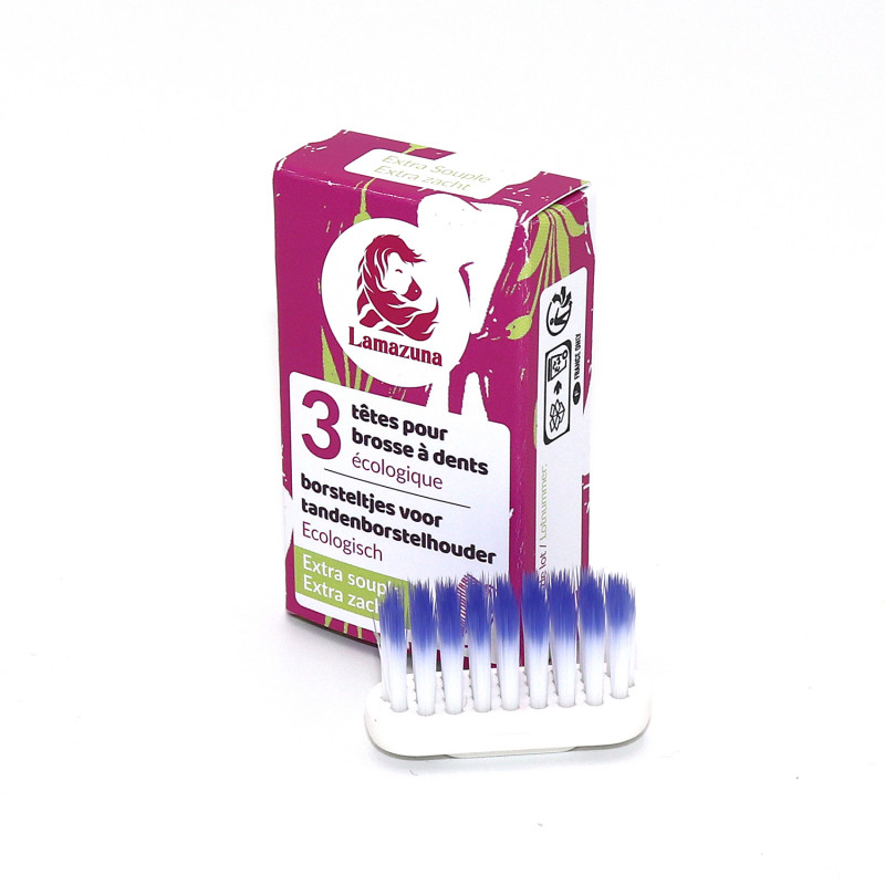 Set of 3 toothbrush heads –...
