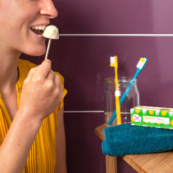 Dentifrice à grignoter sauge citron