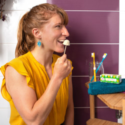 Dentifrice à grignoter zéro déchet et fabriqué en France