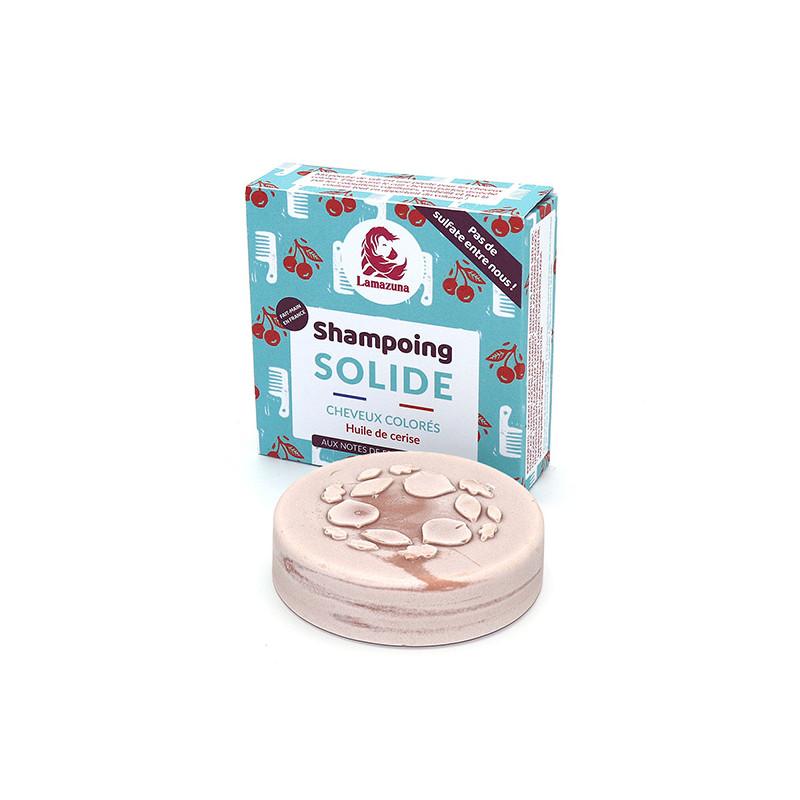 Shampoing solide pour cheveux colorés à l'huile de cerise