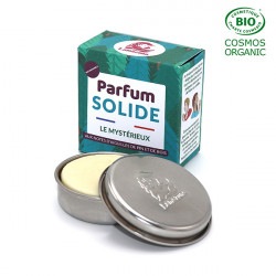 Parfum solide rechargeable certifié bio COSMOS Organic