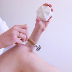 Pain de rasage solide enrichi en beurre de karité