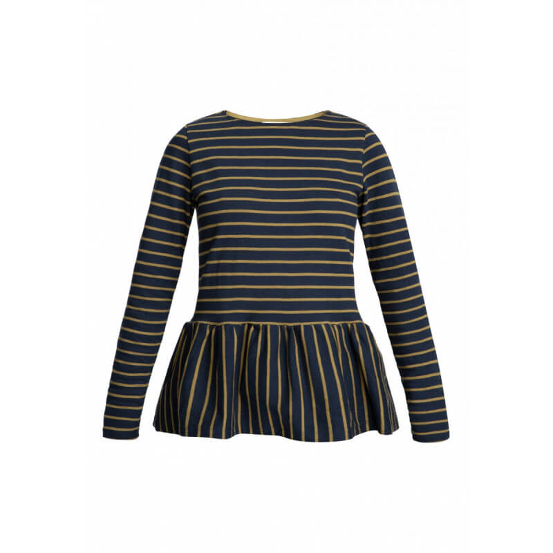 """Ishana"" stripy top - Olive"