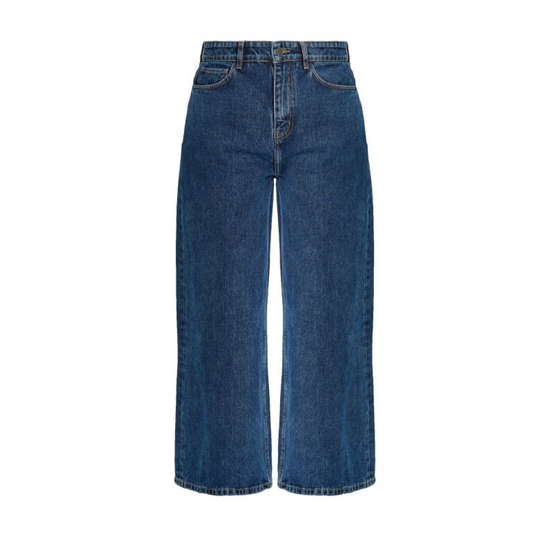 Pantalon denim large en...