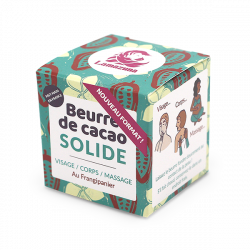 Packaging beurre de cacao solide au frangipanier