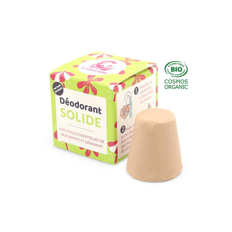 Déodorant solide bergamote géranium COSMOS Organic